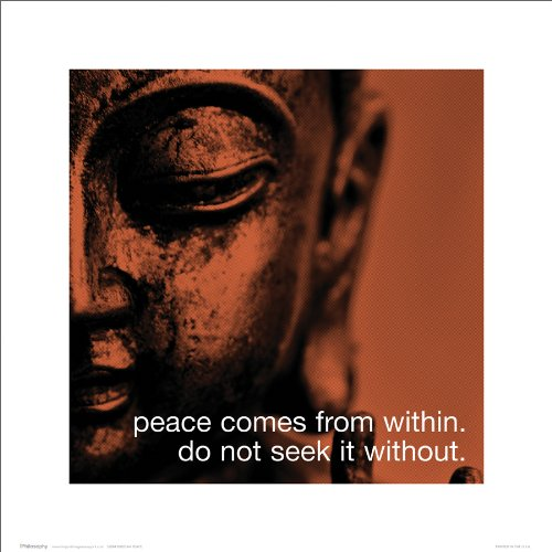 Siddhartha Buddha Buddah Religious Icon Peace Quote iPhilosophy Poster Print - Religious Prints