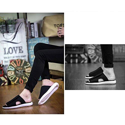dimensioni Colore Traspiranti UK6 Gomma Scarpe Estate Da Antiscivolo 5 Sandali Pantofole T2 Spiaggia Maschio T1 EU39 QIDI In AxSBPwO