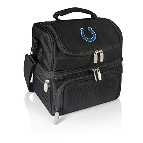 PICNIC TIME NFL Indianapolis Colts Pranzo Insulated Lunch Tote with Service for One, Black