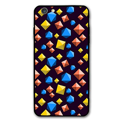 (iPhone 6 Plus and iPhone 6s Plus 5.5-Inch, Diamond Orange Blue and Yellow Shock-Absorption Bumper Cover, Anti-Scratch)