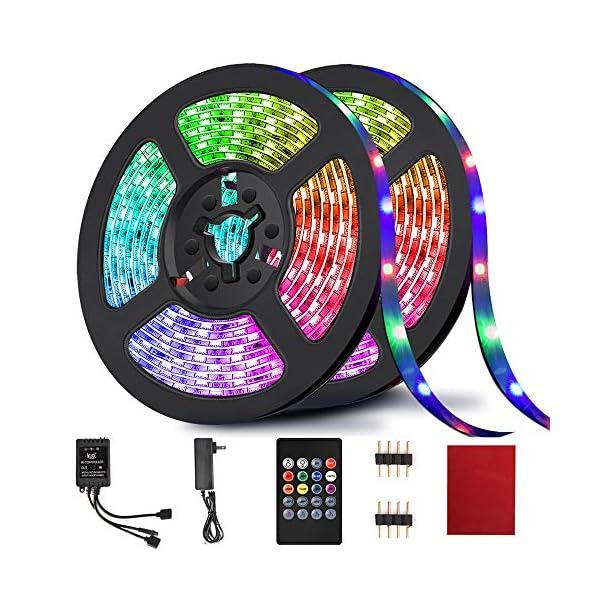 Hrdj Led Strip Lights 32 8ft Rgb Led Light Strip Music Sync Color Changing Rope Lights Smd 3528 With Remote Led Lights Blinkee Com