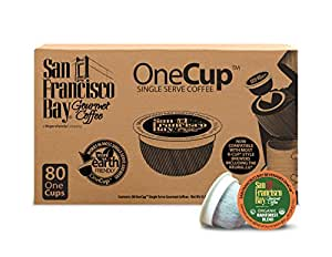 San Francisco Bay OneCup, Organic Rainforest Blend, 80 Count- Single Serve Coffee, Compatible with Keurig K-cup Brewers