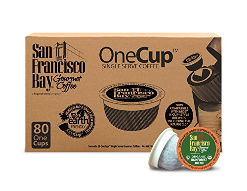 San Francisco Bay OneCup, Organic Rainforest Coalesce, 80 Count- Single Serve Coffee, Compatible with Keurig K-cup Brewers