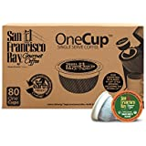 San Francisco Bay OneCup Organic Rainforest Blend (80 Count) Single Serve Coffee Compatible with Keurig K-cup Brewers Single Serve Coffee Pods, Compatible with Keurig, Cuisinart Single Serve Brewers