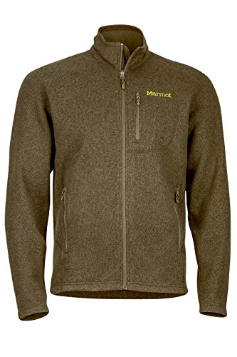 Marmot Drop Line Men's Jacket, Lightweight 100-Weight Sweater Fleece, Deep Moss, Large