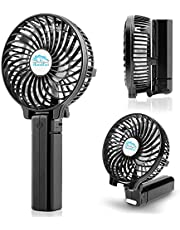 COMLIFE USB Ventilador de Mano Mini Fan Portátil Plegable Ventilador Sobremesa 3 Velocidades Hand Fan para Oficina, Hogar, Viajes, Ejercicio al Aire Libre - Negro