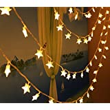 cuzile Star String Lights, 100 LED Starry String Lights 10 Meters for Festival Garden Home Wedding Party Christmas Halloween (Warm White)