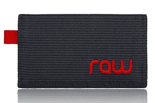 Minimalist wallet & Credit Card Holder that's Slim, simple, sleek & easy,Red/Black,One Size