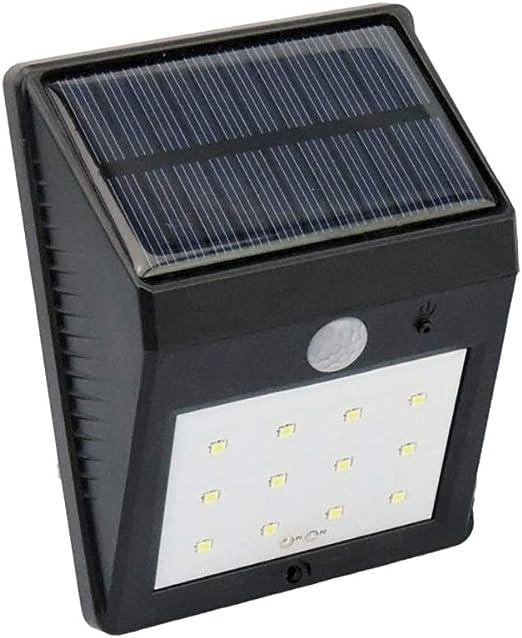 Luz Solar Exterior 8 LED,800mAh IP65 Impermeable Luces de Seguridad al Aire Libre con Sensor de Movimiento/Lámpara Solar Exterior Inalámbrico para Jardín,Garaje,Camino: Amazon.es: Iluminación
