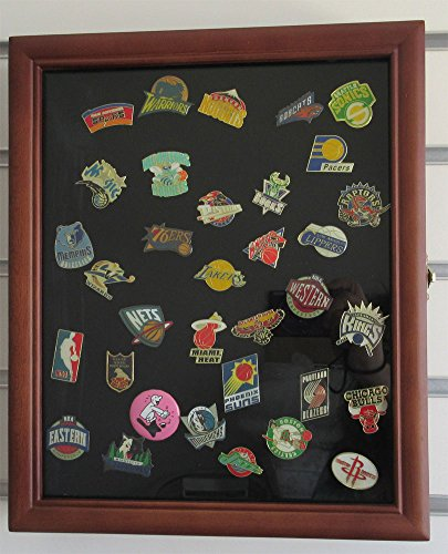 Pin/Medal Display Case Shadow Box, glass door, wall mount...