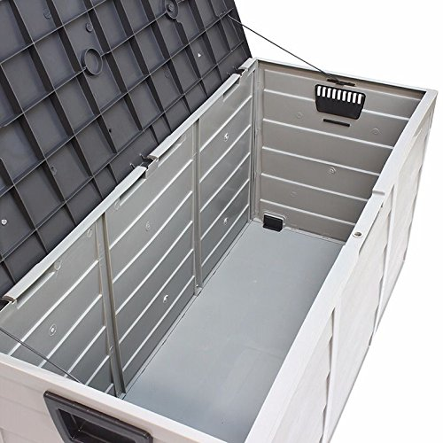 Outdoor Plastic Patio Deck Box All Weather Large Storage Cabinet Container Organizer by Netsc19 (Image #2)