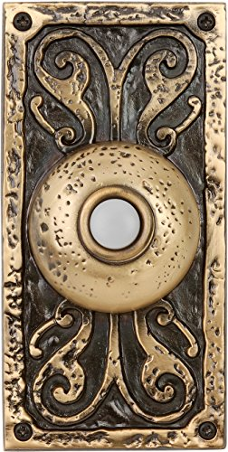 (Craftmade PB3037-BB Surface Mount Designer Lighted Push Button, Burnished Brass)