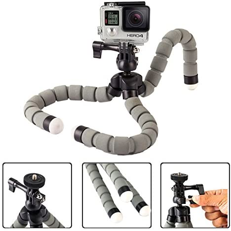 Phone Tripod Portable and Adjustable Camera Stand Holder with Universal Clip Selfie Tripod Selfie Stick