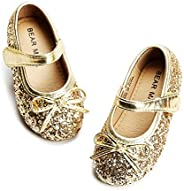 Felix & Flora Glitter Ballerina Ballet Flat Princess Dance Shoes Wedding Party Dress S