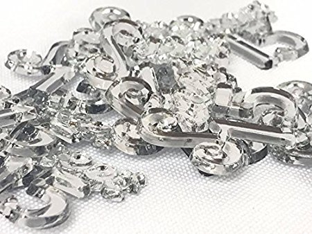 96 Clear Mis Quince Sweet 15 Charm Embellishment Number for Capias Favors Acrylic Confetti]()