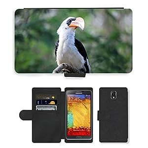GoGoMobile PU LEATHER case coque housse smartphone Flip bag Cover protection // M00123673 Hornbill Pájaro Tropical Zoo Bill // Samsung Galaxy Note 3 III N9000 N9002 N9005