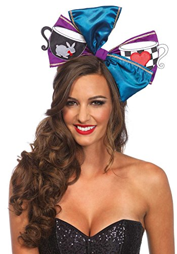 Leg Avenue Women's Tea Party Oversized Bow Costume Accessory, Black, One Size