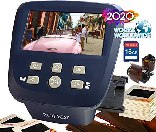 Sale!! zonoz FS-Five Digital Film & Slide Scanner - Converts 35mm, 126, 110, Super 8 & 8mm Film Nega...
