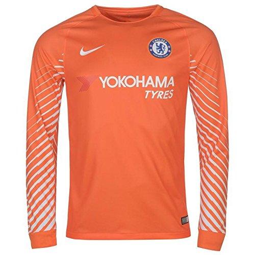 2017-2018 Chelsea Home Nike Goalkeeper Shirt (Orange) - Kids - Chelsea Keeper Jersey