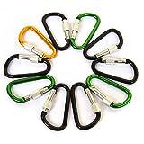 ShopSquare64 7CM D Shape Carabiner Fast Hang Buckle Climbing Hook Key Chain