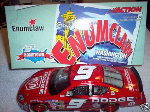 2005 Kasey Kahne #9 Dodge Dealers Hometown Edition Enumclaw 1/24 Scale Metal Diecast, Plastic Chassis Opening Hood, Poseable Wheels Limited Edition by Action Racing