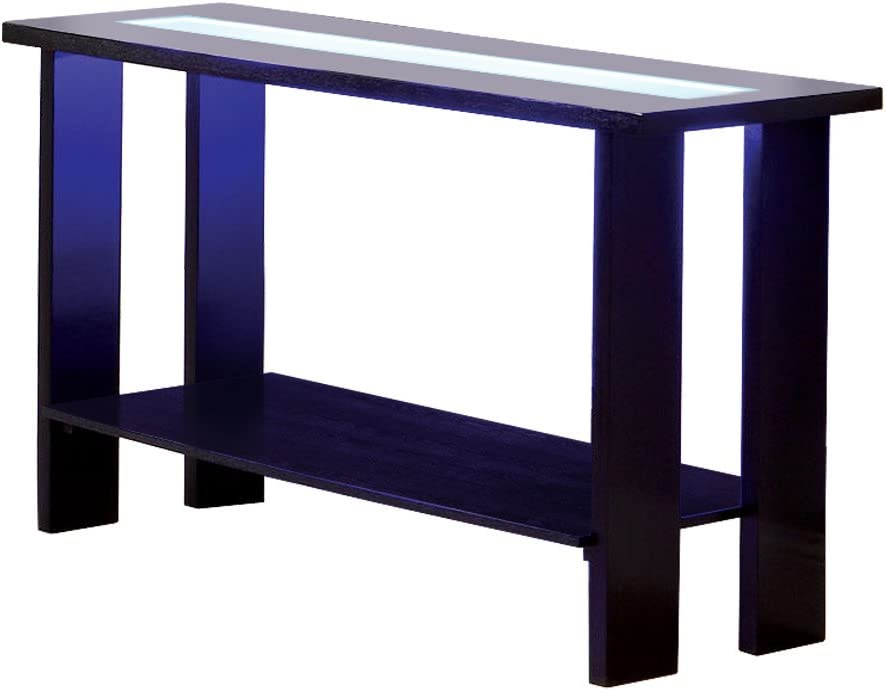 Furniture of America Crownguard 3-Way LED Lighted Sofa Table, Espresso