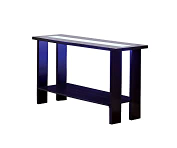 Furniture Of America Crownguard 3 Way LED Lighted Sofa Table, Espresso