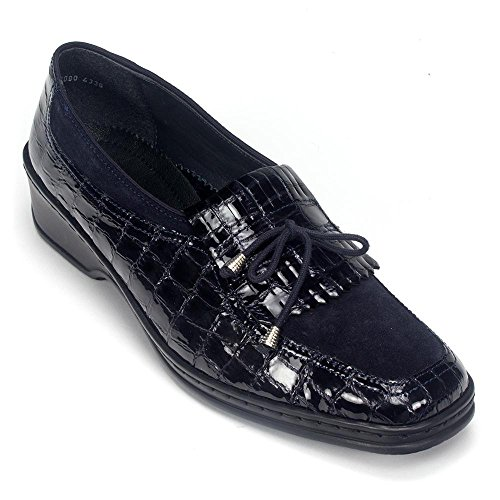 ara Womens Rachel Black Slip-On - 7 G (Suede Loafers Ara)