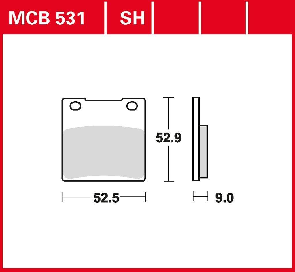 Bremsbelag Trw Organischer Allround Bremsbelag Gsf 1200 Bandit Gv75a 97 00 Hinten Auto