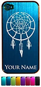 Engraved Aluminum iPhone 4/4S Case/Cover - NATIVE AMERICAN DREAMCATCHER - Personalized for FREE (Click the CONTACT SELLER link after purchase to tell us your case color and engraving request)