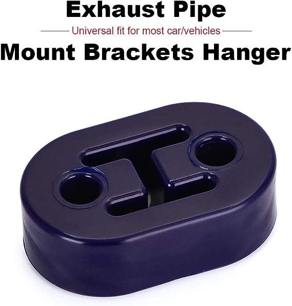 PTNHZ RACING Universal 4PCS Polyurethane Exhaust//Muffler Rubber Short Hanger Insulator Bracket Bushing Mount 10mm