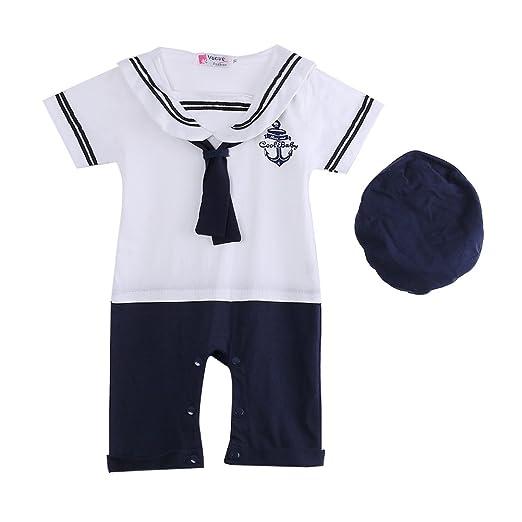 239059246 Amazon.com: Meihuida Baby Boy Girl Anchor Sailor Navy Striped Photo ...
