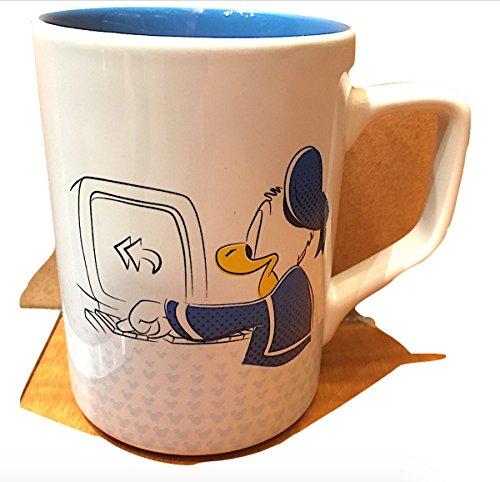 Disney Parks Donald Duck Office Computer Ceramic Mug -