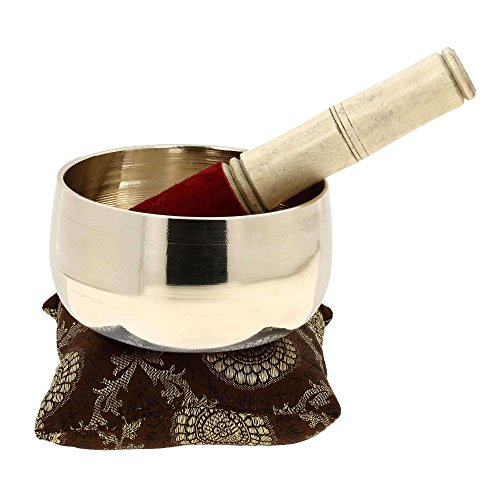 Metal Art India Singing Bowl Instruments for Meditation Touch Bell 4.25 inches