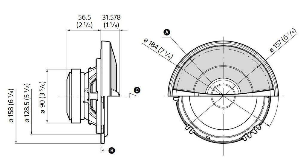Sony Xsgs1621C Loudspeaker Black