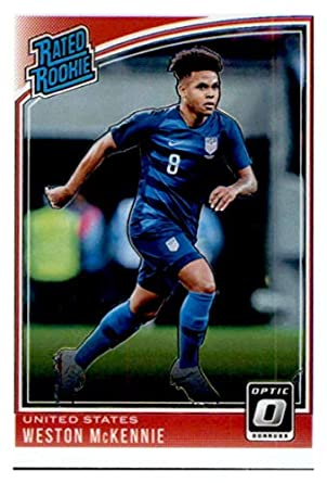 757494209 Amazon.com  2018-19 Donruss Optic  199 Weston McKennie United States Rookie  Soccer Card  Collectibles   Fine Art