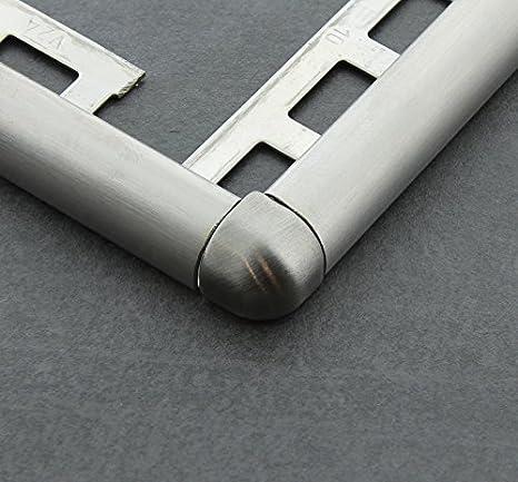 Winkelprofil geb/ürstet Fliesenschiene V2A Edelstahl L/änge 2,50 m 8mm 1 St/ück Fliesenprofil