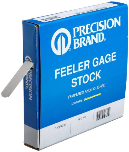 Precision Brand 19495 Steel Thickness Feeler Gage Coil, 0.015