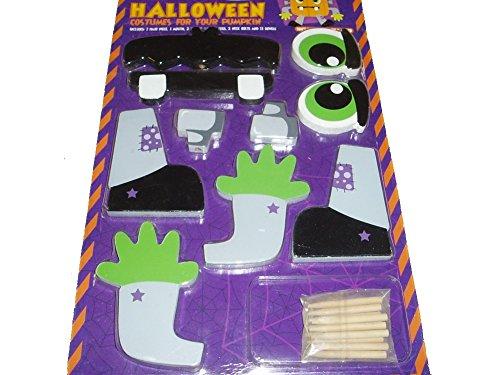 nknown Halloween Costume for Pumpkin Decorating Push-ins Wood Frankenstein -