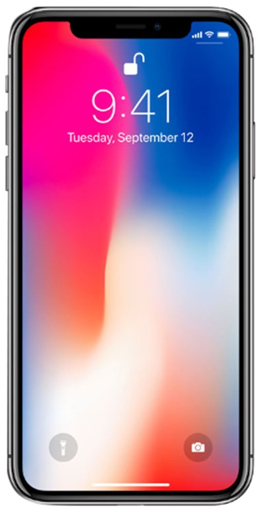 Apple iPhone X, GSM Unlocked, 64GB - Space Gray (Renewed) by Apple