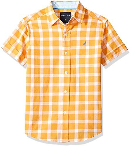 Nautica Boys Short Sleeve Plaid Button Down Shirt