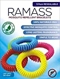 RAMASS Premium Mosquito Repellent Bracelets - 5 Pack - For Adults Kids