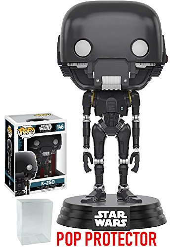 Funko Pop  Star Wars  Rogue One   K 2So  146 Vinyl Figure  Bundled With Pop Box Protector Case
