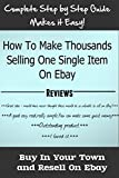 Make Huge Profits Selling One Item On Ebay