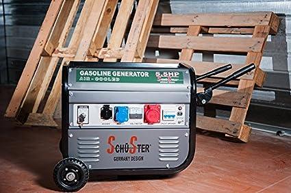 Generador de corriente, 2500 W 220/380 V, arranque eléctrico