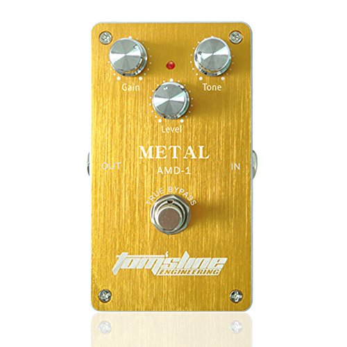 Aroma AMD-1 Metal Distortion True Bypass Electric Guitar Effect Pedal with Aluminum Alloy Housing
