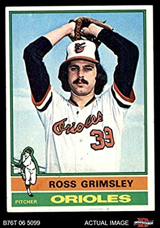 Amazoncom 1976 Topps 257 Ross Grimsley Baltimore Orioles