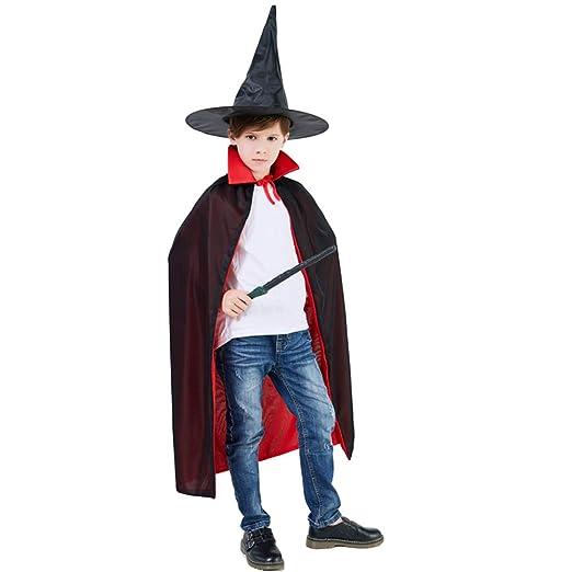 WXH Disfraces de Halloween Manto con Capucha del Mago Brujo ...