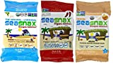 SeaSnax Gluten Free Vegan Premium Roasted Seaweed Snack 3 Flavor 12 Pack Variety Bundle, (4) each: Original, Chipotle, and Onion (.18 Ounces)