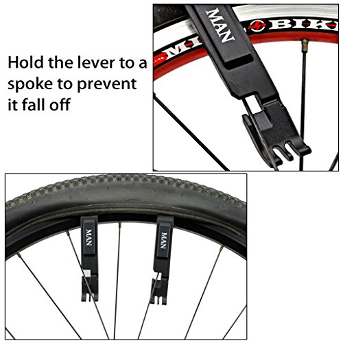 Sumnacon Bike Tire Levers + Master Link Chain Pliers 3 in 1 Multifunction Bicycle Tire Repair Tool Use to Remove Tire/Chain Link/Tire Deflate, Premium Engineering Plastic Lever Not Scratch Tube by Sumnacon (Image #2)